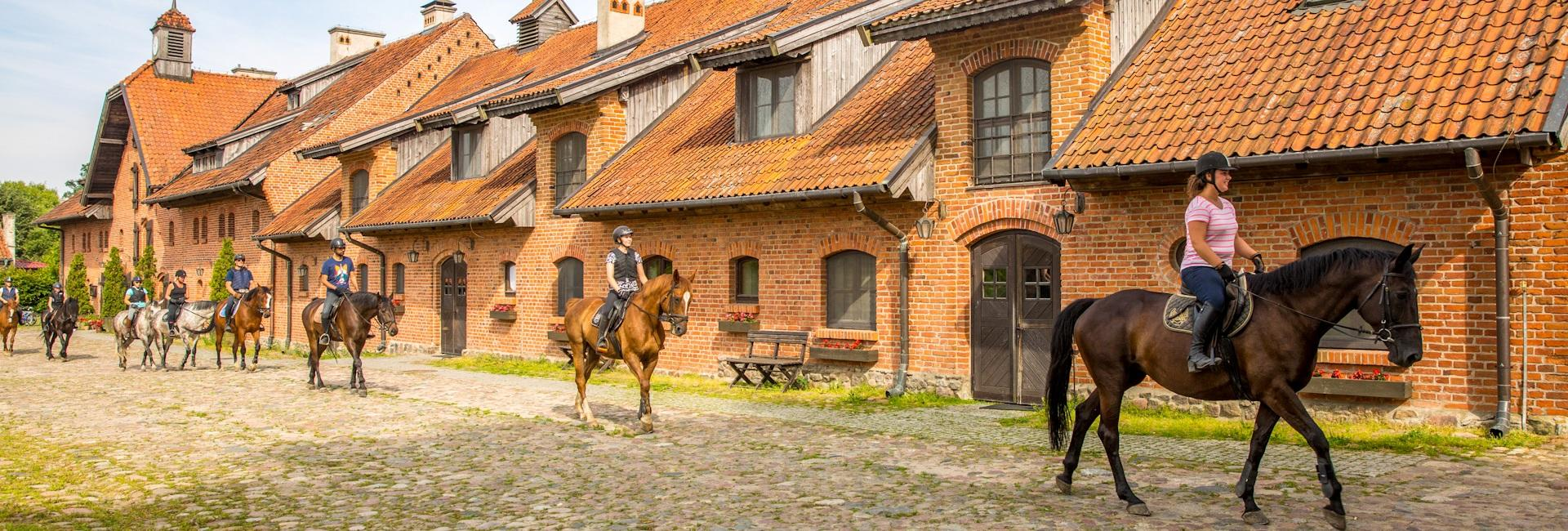 Horse back riding at Palace and Grange Galiny in Warmia and Masuria