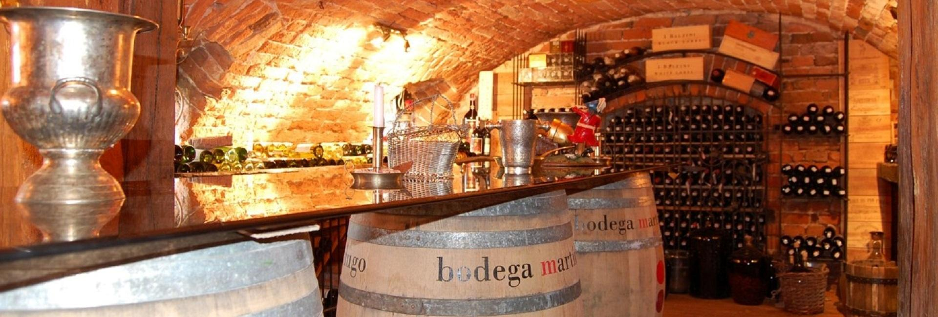 Wine cellar at Chotynia Manor House in in Sobolew
