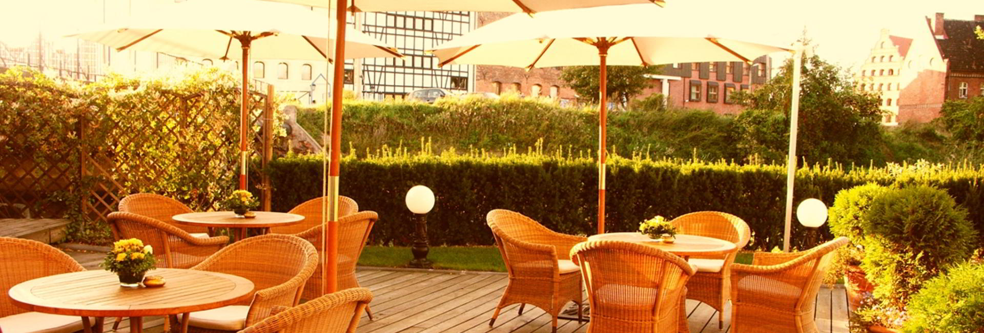 Terrace at Hotel Podewils in Gdansk