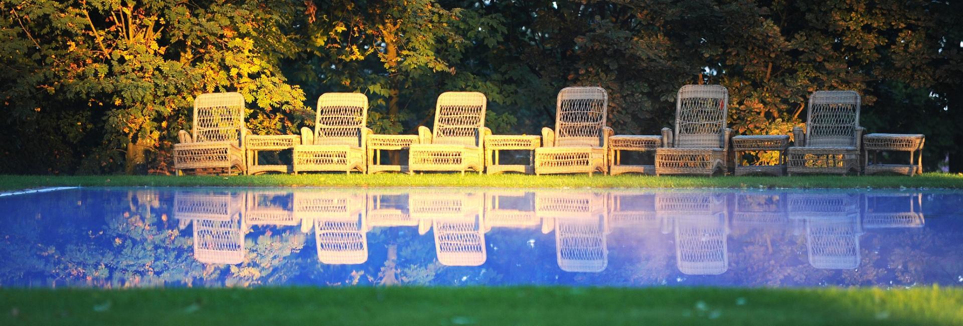 Pool at Pacoltowo Palace, Poland