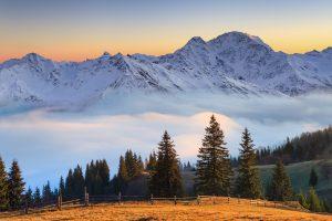 Stunning Austrian snow-capped peaks