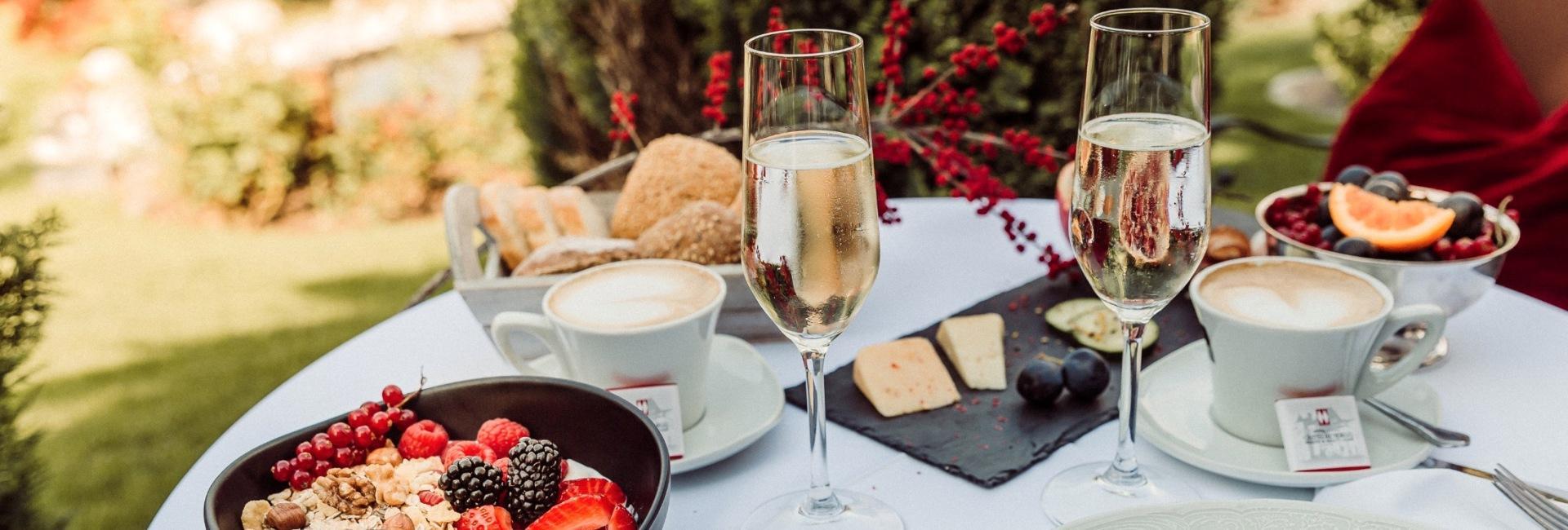 Breakfast at Hotel Castel Rundegg in Merano